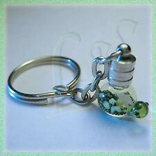 Unisex Jewelry Customized Name on Rice in Vial Charm Key Chain Unique Gift Cute