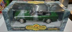 Ertl American Muscle Col. Ed. Green 1969 Camaro SS396 Conv. MIB SCARCE 1/18