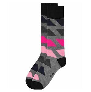 Alfani Men's Grey/Pink Dress Socks 7-12