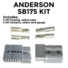 Anderson SB 175 Amp KIT of 2 connectors, select housing color and wire gauge