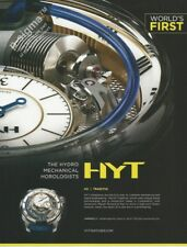 HYT The Hydro Mechanical Horologists - watch - 2017 Print Ad