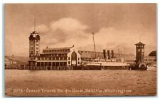 Early 1900s Grand Trunk Pacific Dock, Seattle, WA Postcard