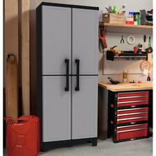 Tall Utility Storage Cabinet Garage Tool Locking Shelving Cupboard Pantry Home