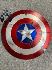 60CM Captain America Shield 1:1  Full Aluminum Metal BATTLE DAMAGE + FREE STAND