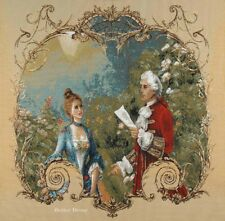 WALL JACQUARD WOVEN TAPESTRY Victorian Date - The Poetry EUROPEAN ROCOCO DECOR