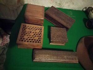 Hand Carved Indian Wooden Spice Box