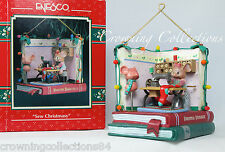 Enesco Sew Christmasy Ornament Mouse Sewing Machine Room Treasury of Christmas