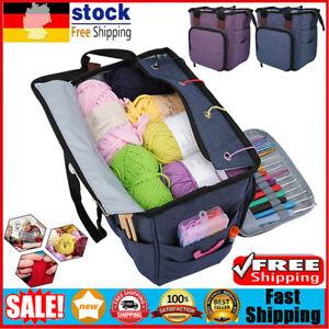 leichte und leicht zu Reisende Taschen mit Taschen f/ür Zubeh/ör zur Verhinderung von Verwicklungen Sperrins Strick-H/äkeltasche f/ür die Aufbewahrung von Garn Tragbare