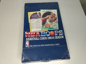 1990-91 NBA Hoops Series 1 Basketball Cards Full Sealed Box x36 packs UK Jordan?