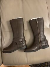 Kenneth Cole Reaction Kennedy Basic 2 Brown Tall Zip Up Boots size 8 toddler