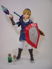 Custom Legend of Zelda Ocarina of Time Zora Tunic Link Figma action figure