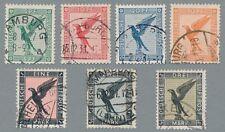 Flugpostmarken 1926 Mi.Nr. 376-384 gestempelt