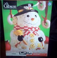 "Gibson 1997 Frosty the Snowman 10"" Ceramic Cookie Jar Original Box"