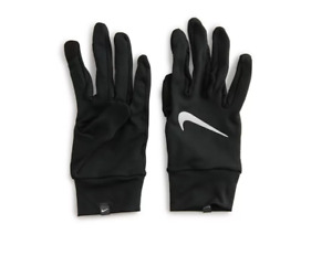 Nike Gloves Mens XL New  Dri Fit Accelerate Lightweight Reflective Running Black