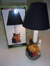 Halloween Pumpkin Lamp with Shade Ghost Black Cat Pumpkin Skeleton