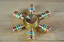 Brass Hand Spinner Fidget Ceramic Ball Desk EDC Focus Toy Kids/Adult DIY DeskToy