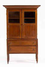 Dollhouse Miniatures ~ Tom Wolfert Wooden Tall Linen Cabinet ~ Artisan Made