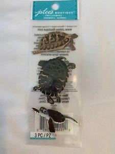 "EK Success Jolee's Boutique Embellishments ""Turtle"" Scrapbooking Craft JJNA029B"