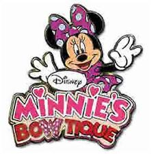 MINNIE'S BOWTIQUE LOGO Boutique MINNIE Mouse IN PINK POLKA DOTS DISNEY PIN