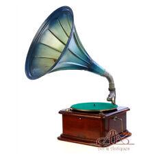 Antique Mahogany Odeon Horn Gramophone - Phonograph. Germany, Circa 1920