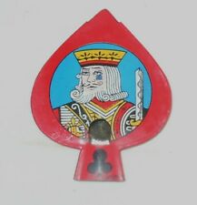 "Vtg 1950's  ""King of Clubs"" Tin Litho Toy Whistle/Made in Japan/Cards/Suites"