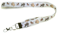 More details for poodle breed of dog lanyard key card holder perfect gift