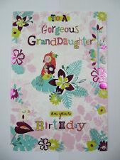 Fantástico colorido en relieve brillo Coated 18 Cumpleaños tarjeta de saludo