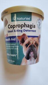 NaturVet Coprophagia Stool Eating Deterrent Plus Breath Aid 70 Soft Chews NEW