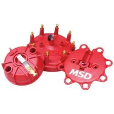 MSD Distributor Cap & Rotor Kit 84085; HEI / Male Red for Ford, Lincoln, Mercury