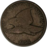1858 1C Flying Eagle Small Cent/Penny US Raw Coin