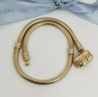 Authentic Pandora Solid 14k Gold Moments Charm Bracelet 21cm RRP $2799