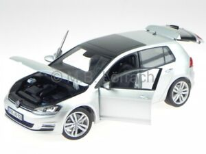 VW Golf 7 4-door silver diecast model car Norev 1/18