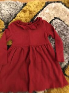 Girls Autumn Red colour dress size 3-4 years