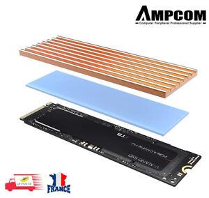 Dissipateur de chaleur pour SSD NVME M2 NGFF 2280 PCI-E en aluminium  AMPCOM