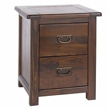 Large Bedside Cabinet Table Dark Wood Baltia Solid Wood Bedroom Furniture