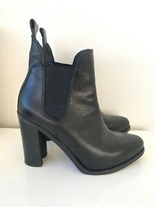Rag and Bone leather boots genuine designer shoes heels heeled boots size 36.5