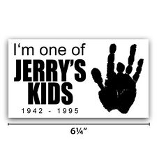 "Grateful Dead ""Jerry's Kids"" Bumper Sticker 3½""X6¼"" - Jerry Garcia"