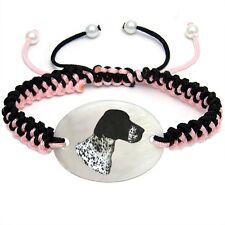 Hunting Dog Mother Of Pearl Natural Shell Adjustable Knot Bracelet BS225