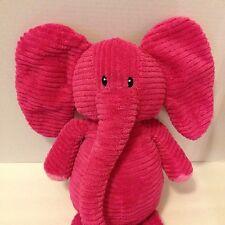 "Old Navy Pink Elephant Plush 18"" Chenille Corduroy Stuffed Animal Sewn Eyes"