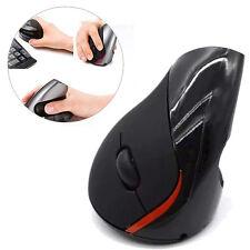 Durevole Wireless Ergonomico Mouse USB Ottico Verticale Senza Fili Per Computer