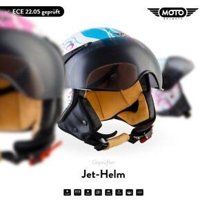 MOTO H44 Flower - JET VESPA RETRO SCOOTER GIRL WOMAN MOTORCYCLE HELMET XS-XL