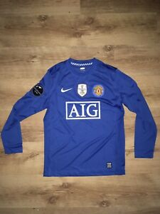 Manchester United Away 2008/2009 Fifa World Champions Ronaldo Size M Shirt