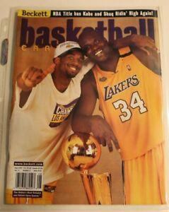 BECKETT BASKETBALL- Aug. 2000 - KOBE & SHAQ - NBA CHAMPIONS + Kobe card