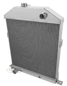 "1942 1943 1944-1948 Ford/Mercury Radiator Aluminum American Eagle 2 Row 1"" Tubes"