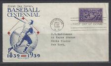 #855 - Baseball Centennial - J.W. Clifford cachet