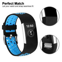 For Fitbit Charge 2 Replacement Silicone Wristband Wrist Strap Watch Bands Blue