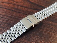 Seiko 20mm Bracelet Jubilee Flat Lugs Stainless Steel Bracelet Watch Men