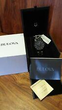 Bulova 98A135 Black Stainless Steel Mens Watch