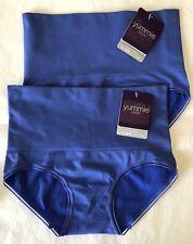 Set of 2 NWT Yummie© S/M YT5-158 Ultralight Seamless Shapewear Brief $18 BLUE