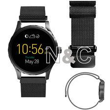 Black Stainless Steel WatchBand For Fossil Q MARSHAL Bracelet Strap Band